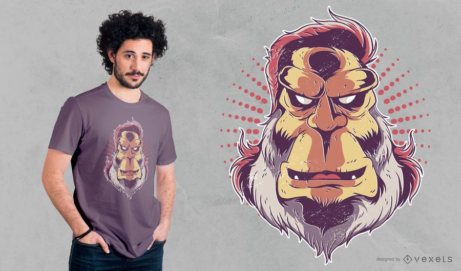 Big Foot Mullet T-shirt Design