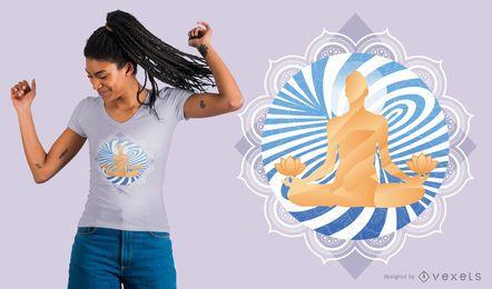 Projeto do t-shirt da meditação do redemoinho