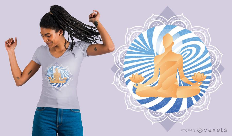 Swirl Meditation T-shirt Design