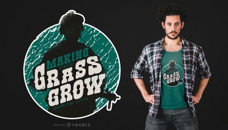 A grama cresce o projeto do t-shirt