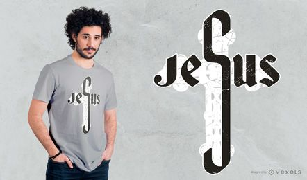 Diseño de camiseta de Jesús Cross