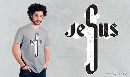 Jesus Kreuz T-Shirt Design