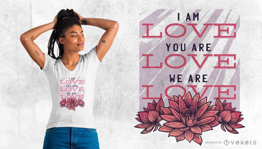 Nos encanta el diseño de camiseta
