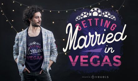 Diseño de camiseta Married In Vegas