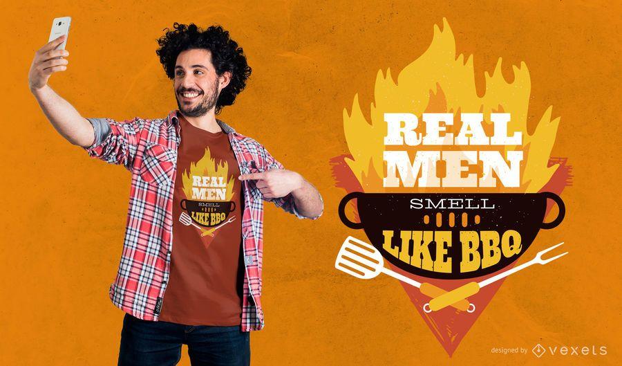 Diseño de camiseta de hombre real
