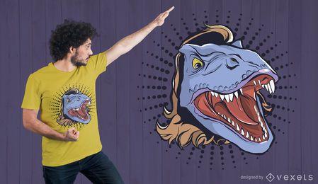 Projeto do t-shirt do salmonete de T-Rex