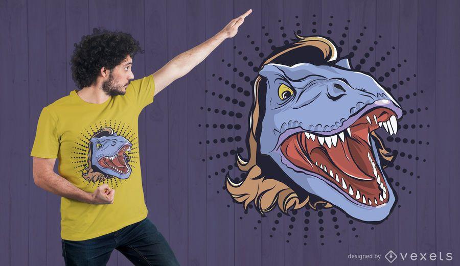T-Rex Mullet T-shirt Design