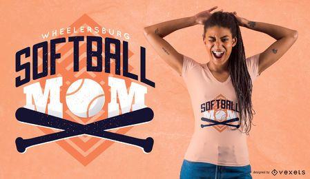 Projeto do t-shirt da mamã do softball de Ohio