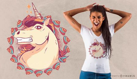 Diseño de camiseta Unicorn Hairstyle