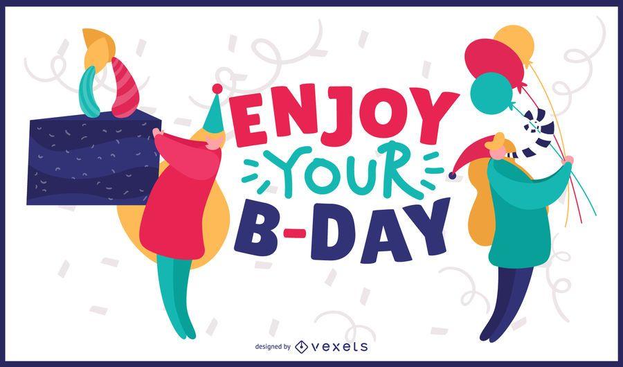 Aproveite o design do seu cartão de aniversário