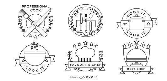 Diseños de la insignia del chef