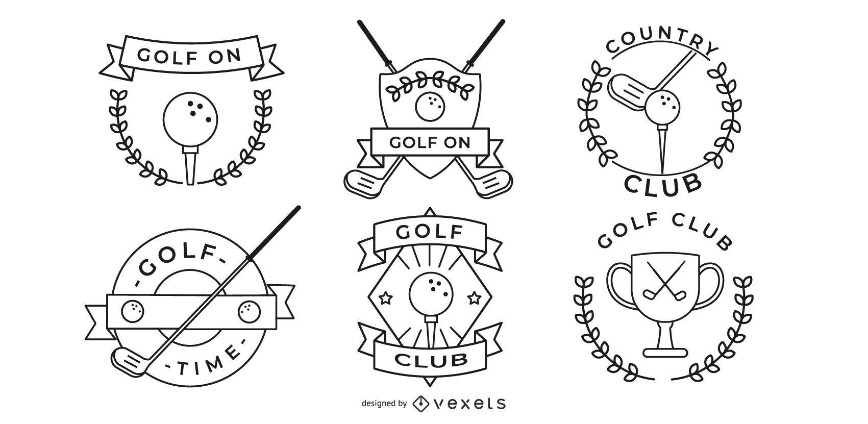minimalist golf badge designs
