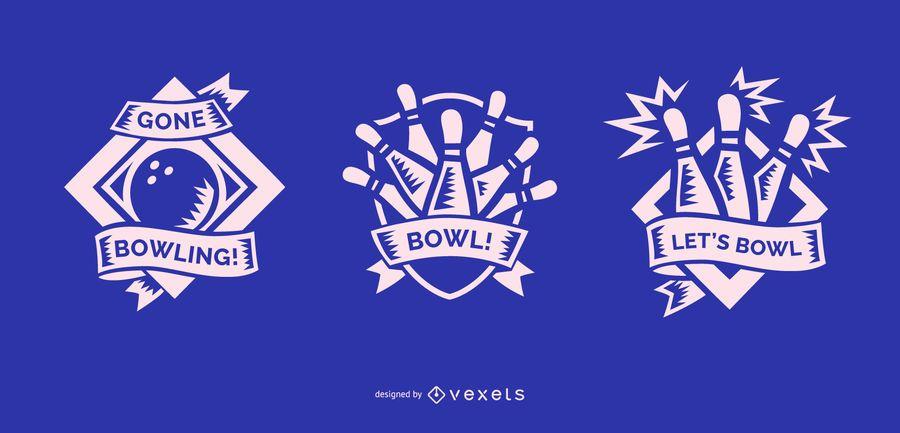 Desenhos de distintivos de boliche