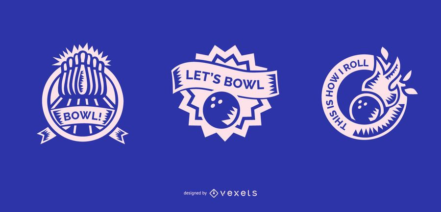 bowling badge designs