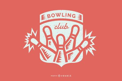Bowling club badge design