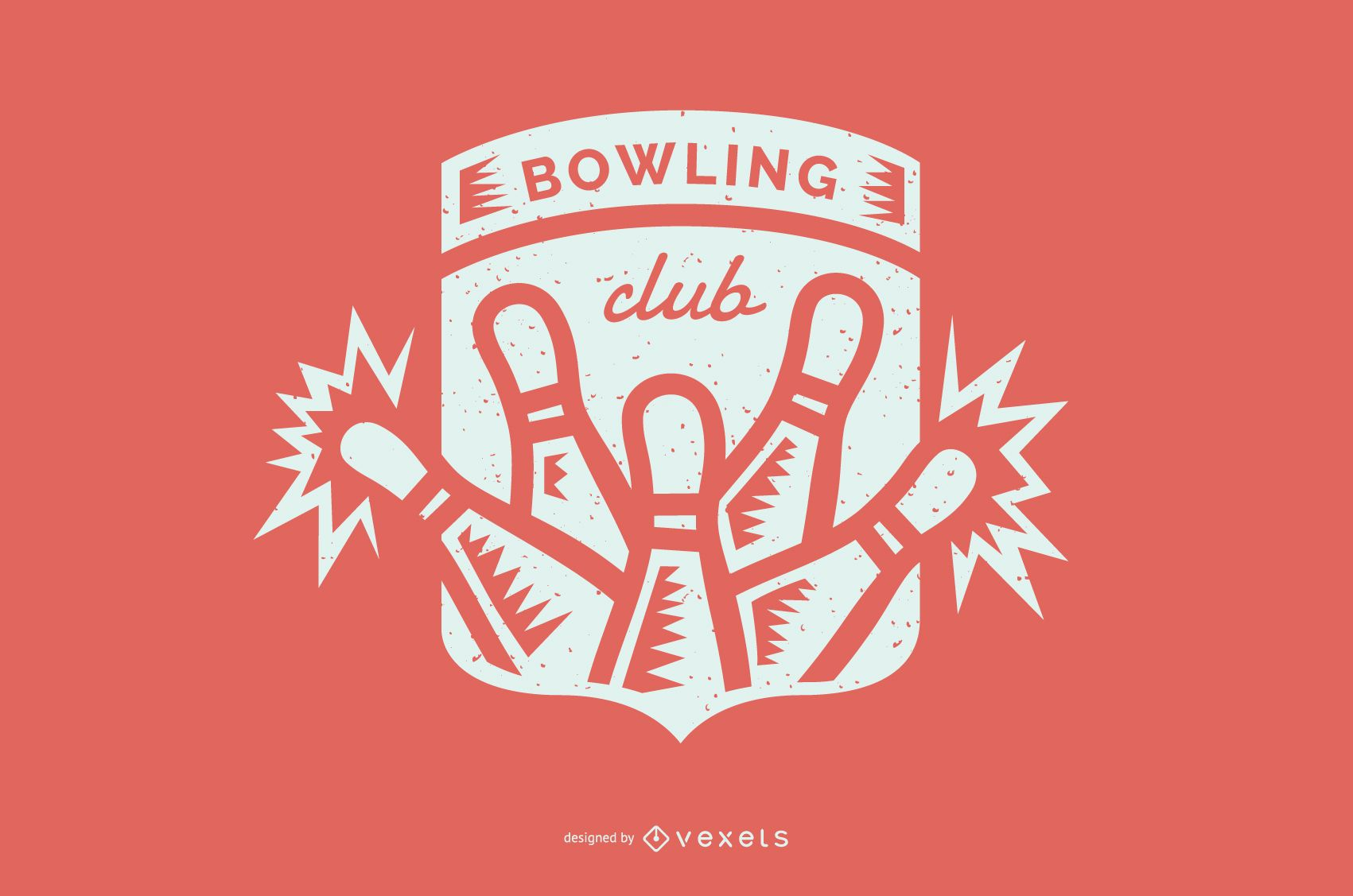 Bowling club badge design