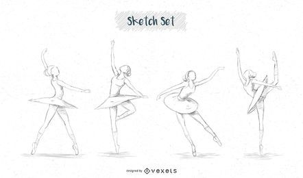 Ballerina sketch designs