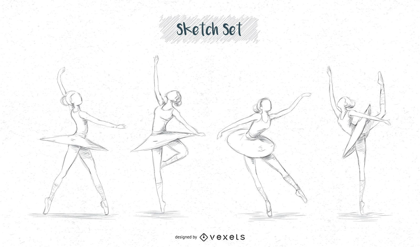 Ballerina sketch designs