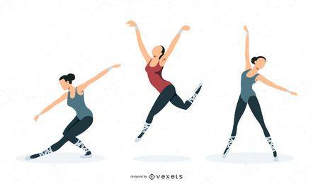 Diseño de ballet vectorial