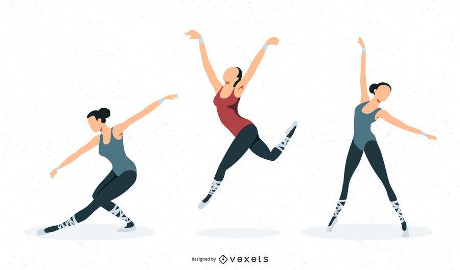 Diseño vectorial de ballet.