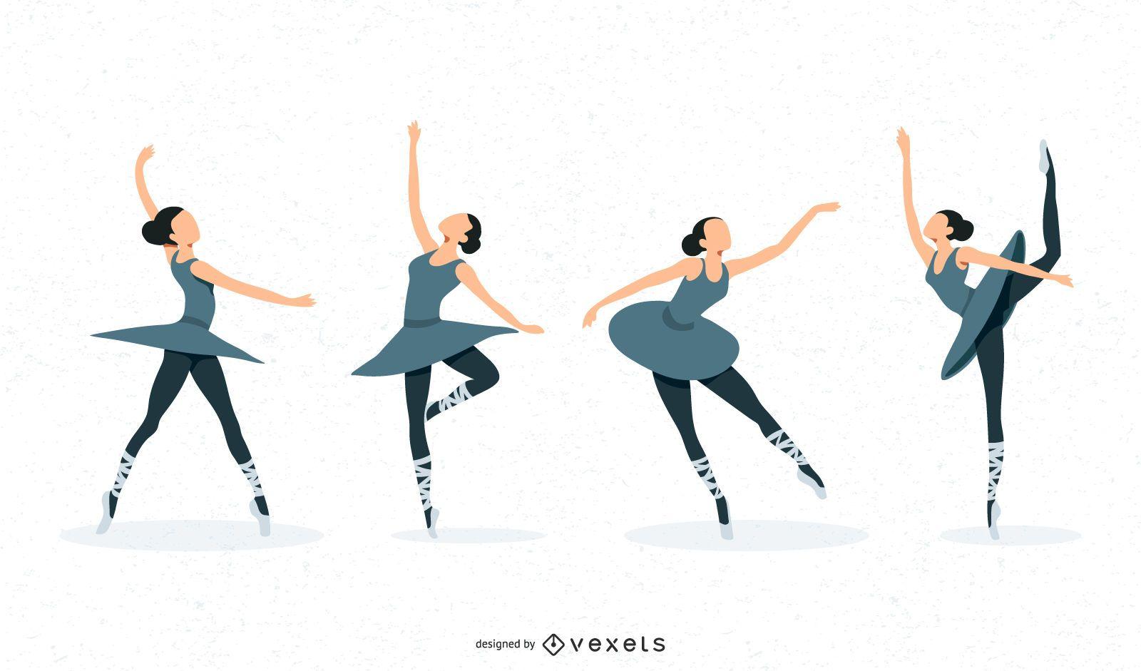 ballet dancer vectorial art