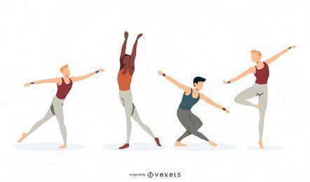 Bailarín de ballet vectorial masculino.