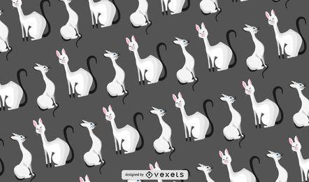 Padrão de gatos elegantes