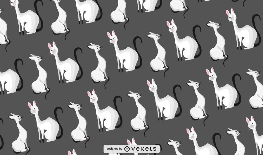 Patrón de gatos con clase