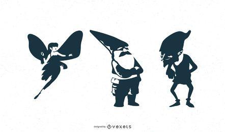 Fantasy Charakter Silhouetten