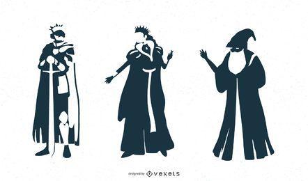 Diseños de personajes de fantasía.