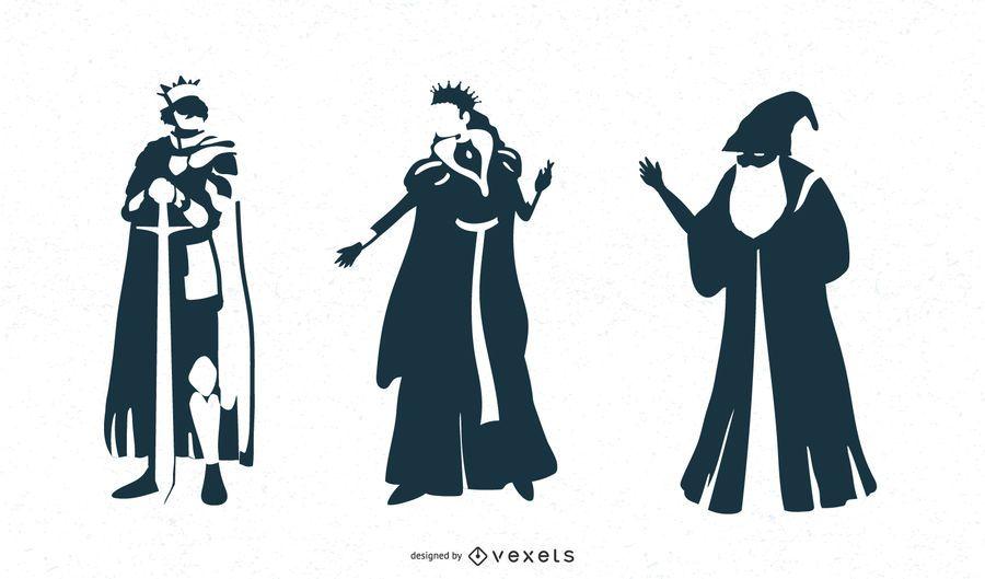 Desenhos de personagens de fantasia