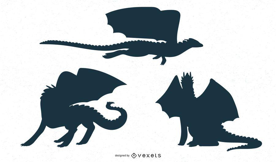 Diseño de la silueta del dragón