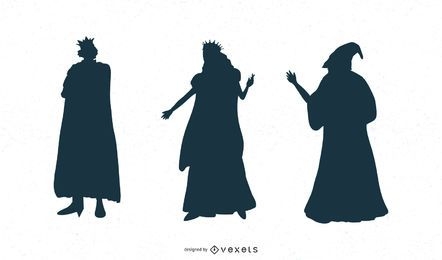 Fantasy Characters Silhouette Set