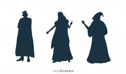 Fantasy Zeichen Silhouette Set