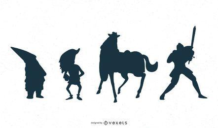 Fantasy Charakter Silhouette Design