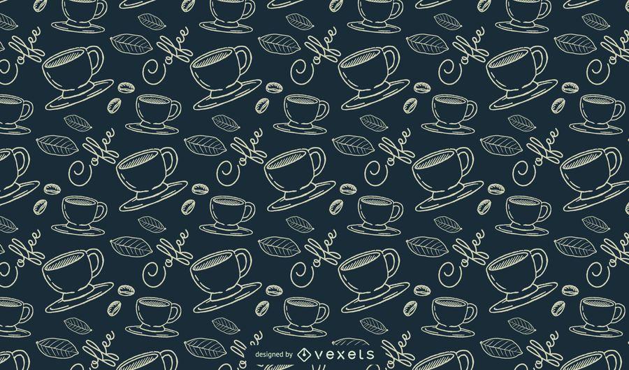 Kaffee lineare Muster