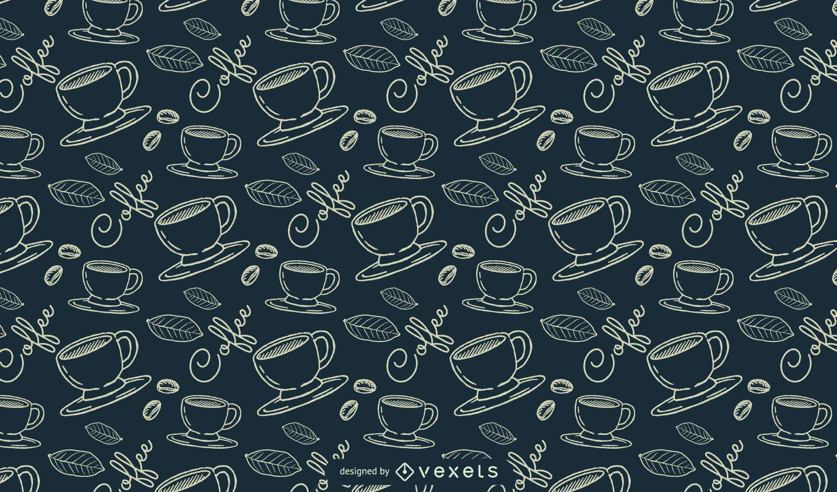 Coffee Lineal Pattern