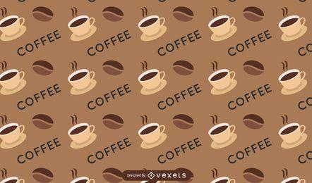 Padrão sem emenda de café