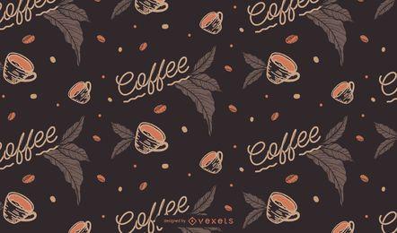 Patrón sin costuras de café