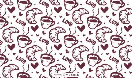 Croissant Coffee Pattern