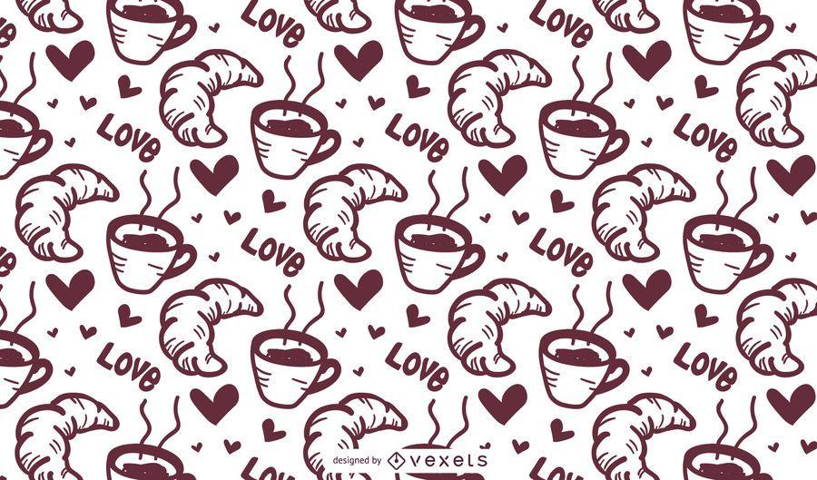 Croissant Coffee Pattern
