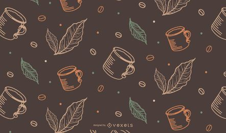 Coffee Mug Tileable Pattern
