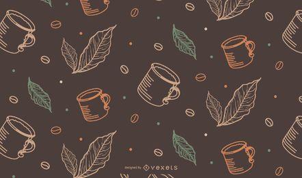 Teste padrão de Tileable da caneca de café
