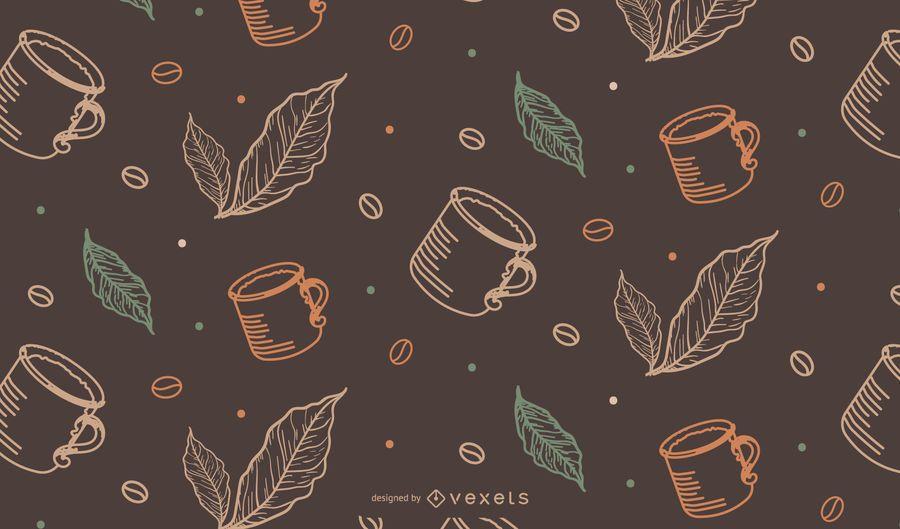 Coffee Mug Tileable Pattern