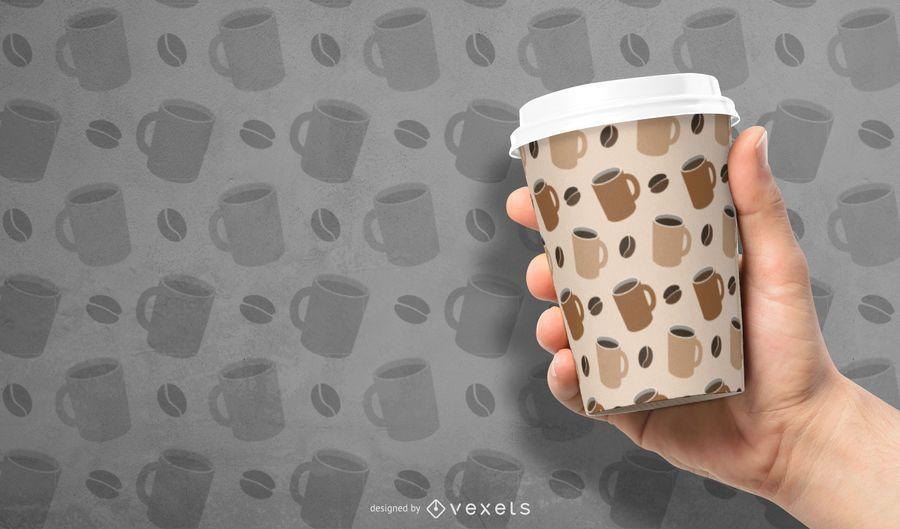 Taza de café Tileable patrón