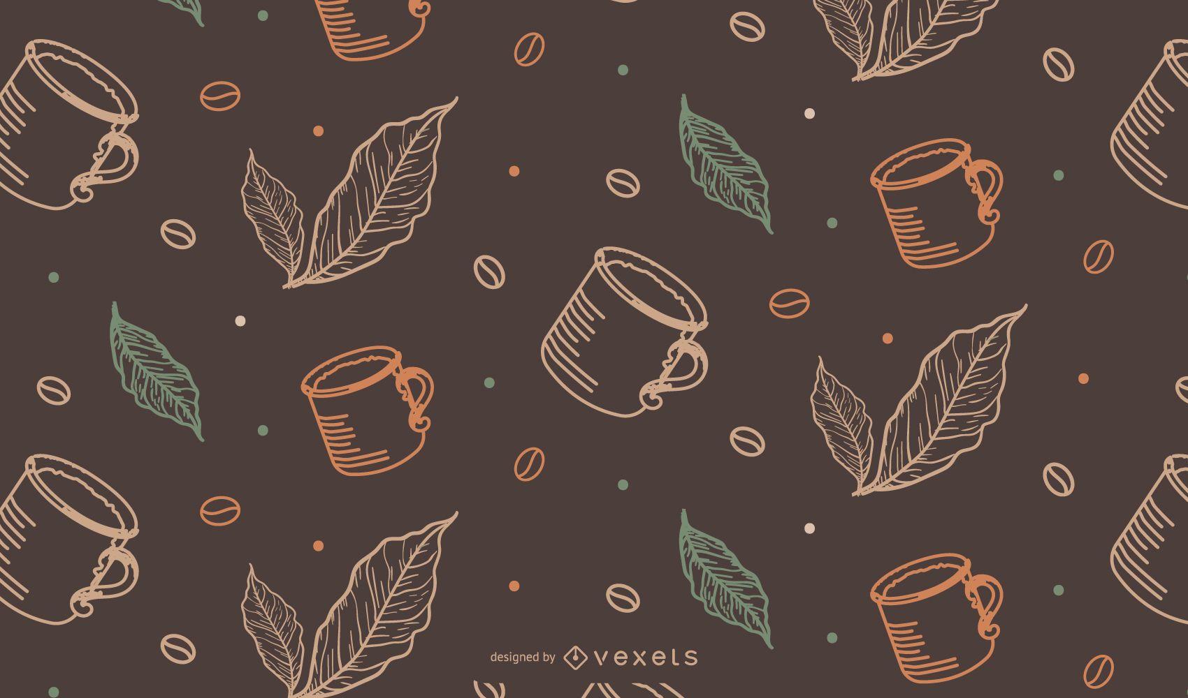 Taza de café enlosable patrón