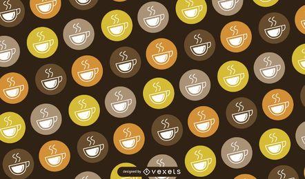 Copo de café logotipo padrão