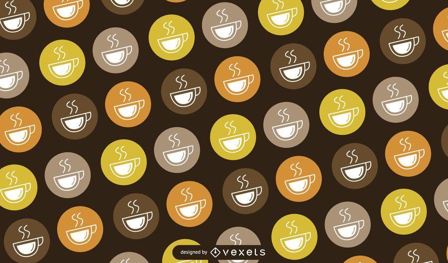 Patrón de logotipo de taza de café