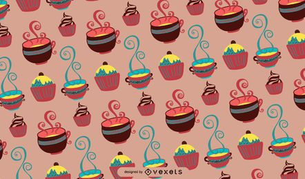 Coffee Time Tileable Pattern