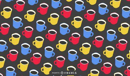 Diseño inconsútil del modelo de la taza de café